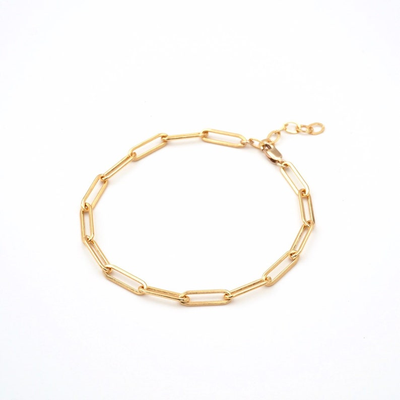 Large Chain Link Bracelet  14k Gold Filled 14k Rose Gold Fileed or Sterling Silver  Au Courant x Sam Ozkural Jewelry