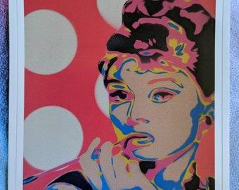 Pop Audrey as Holly Golightly Sticker