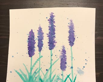 Small watercolor flower painting - original