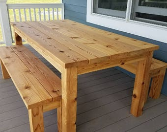 Merveilleux Outdoor Cedar Picnic Table Set