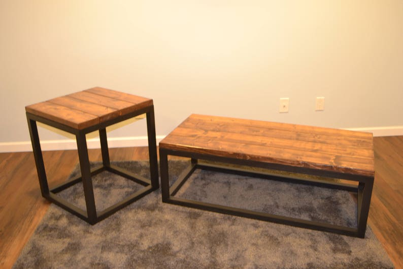 Industrial Coffee End Table Set