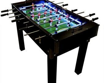Portuguese Professional Wood Foosball Football Soccer Table Matraquilhos With LED Light
