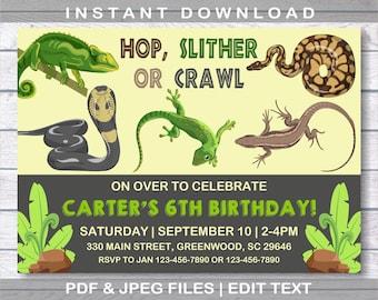 Reptile invitation etsy reptile invitation reptile birthday invitation instant download reptile party snake invitation boy birthday invitation reptile invite filmwisefo