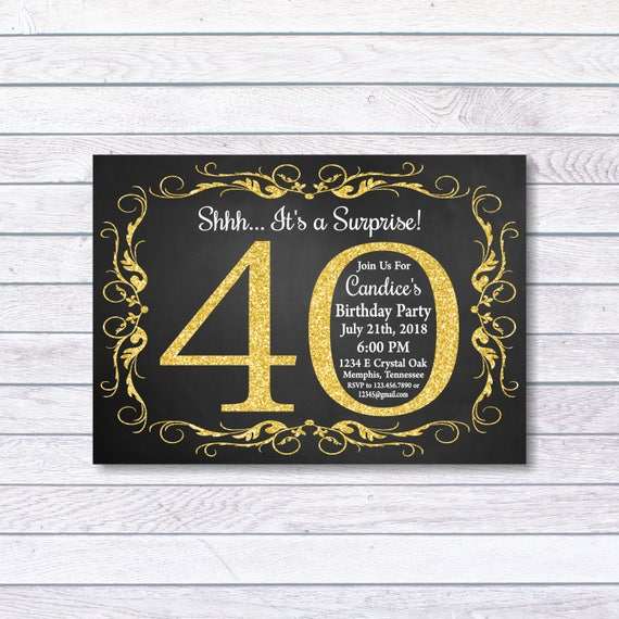 Surprise 40th birthday invitation 40th birthday invitation etsy image 0 filmwisefo