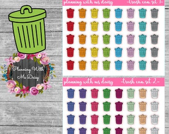 Trash Can Stickers (Choose from 2 color sets)