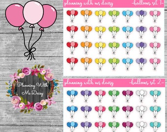 Balloon Stickers (Choose from 2 color sets)