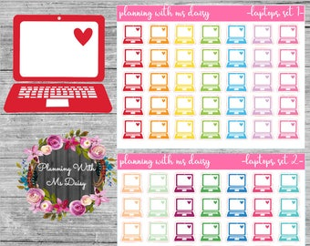 Laptop Stickers (Choose from 2 Color Sets)
