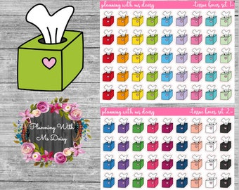 Tissue Box Stickers (Choose from 2 color sets)