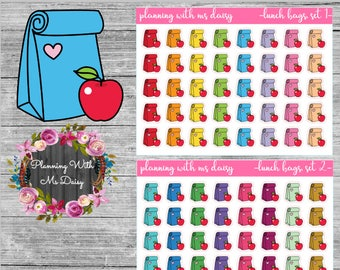 Lunchbag Stickers (Coose from 2 color sets)