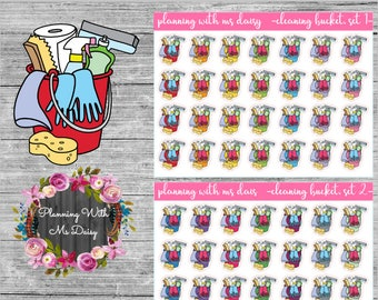 Cleaning Bucket Sticker (Choose from 2 color sets)
