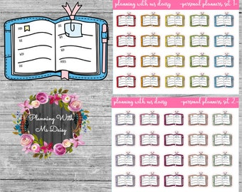 Personal Planner Stickers (Choose from 2 color sets)