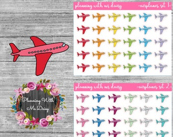 Airplane Stickers (Choose from 2 color sets)