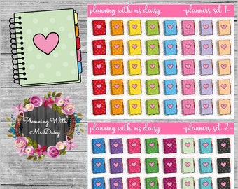 Planner Stickers (Choose from 2 color sets)