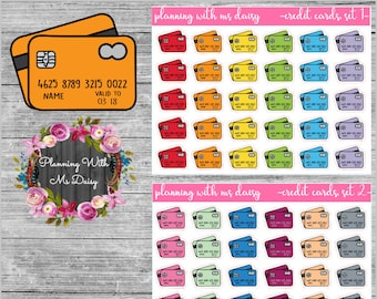 Credit Card Stickers (Choose from 2 color sets)