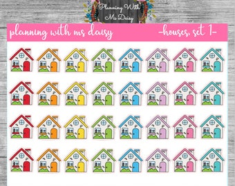 House Stickers (Choose from 2 Color Sets)