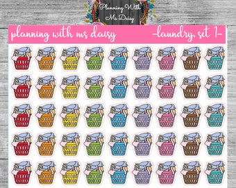 Laundry Stickers (Choose from 2 Color Sets)