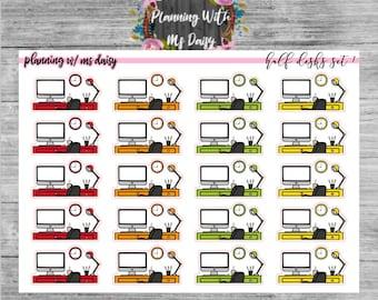 Half Desk Stickers (choose from 5 color sets)