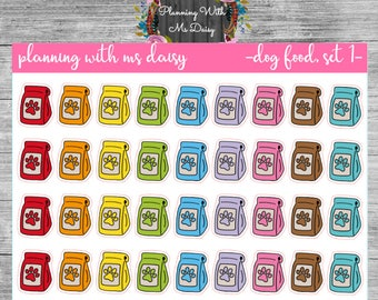Dog Food Stickers (choose from 2 color sets)