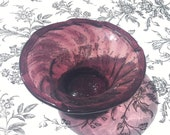 Amethyst Wrythen-Moulded Sugar Bowl - 18th Century Glass, c1800 RARE