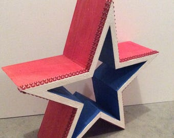 4th of July mantel/hanging star