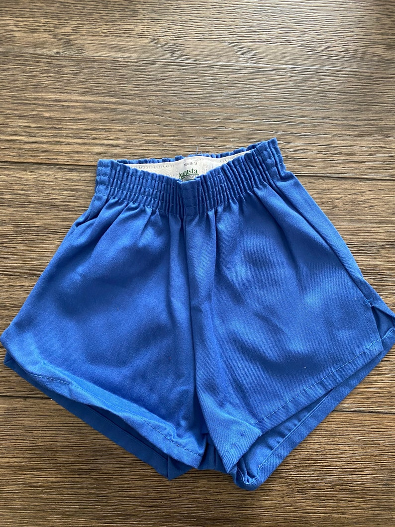 Vintage Youth Augusta shorts  gym shorts  Youth girls size small  costume  5050 poly cotton blend  Made in USA  single stitch