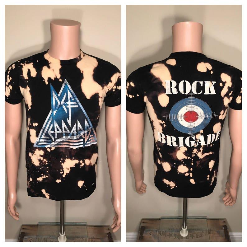 22309dc60316ce Def Leppard tour shirt    acid bleach washed    Vintage tour