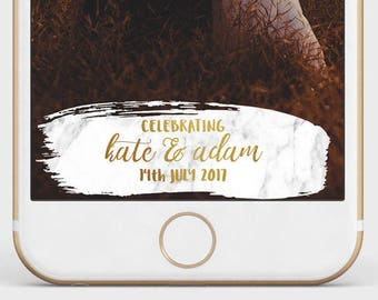 Marble Wedding Snapchat Filter | Marble and Gold Wedding Geofilter | Gold Snapchat Filter | Custom Wedding Geofilter |