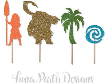 Moana Party Cupcake toppers set of 12
