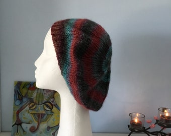 Ladies hand knitted beret