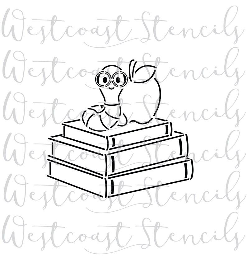 Pyo Bücher Wurm Mit Apfel Schablone Zurück Zu Schule Schablone Cookie Schablone