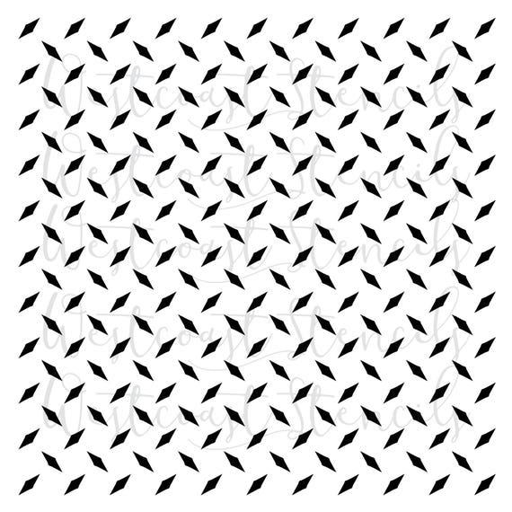 high detail airbrush stencil diamond plate pattern FREE UK POSTAGE