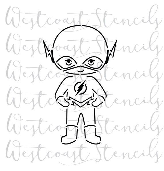 Pyo Thunder Bolt Kid Stencil Cookie Stencil Etsy