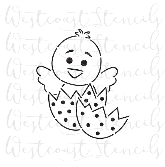 Pyo Chick In An Egg Stencil Easter Stencil Cookie Stencil Etsy