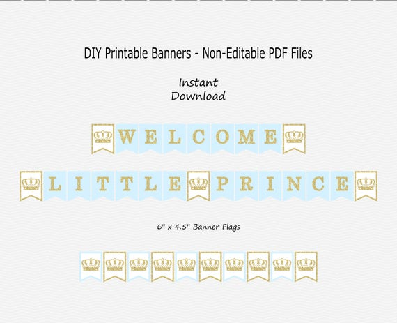 Prince Banners Birthday Party Banners