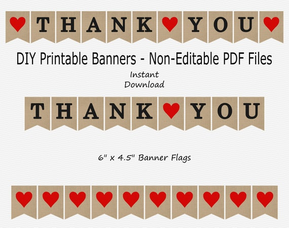 photograph regarding Thank You Banner Printable named Thank Your self Banner - Burlap, Black Dim Pink - Centre - Marriage Picture Prop - PRINTABLE - Fast Obtain