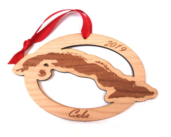 Christmas In Cuba 2019.Cuba Wooden Ornament Christmas Made In Usa Personalized Duty Station Custom Ornament Havana Guantanamo Cienfuegos Vinales