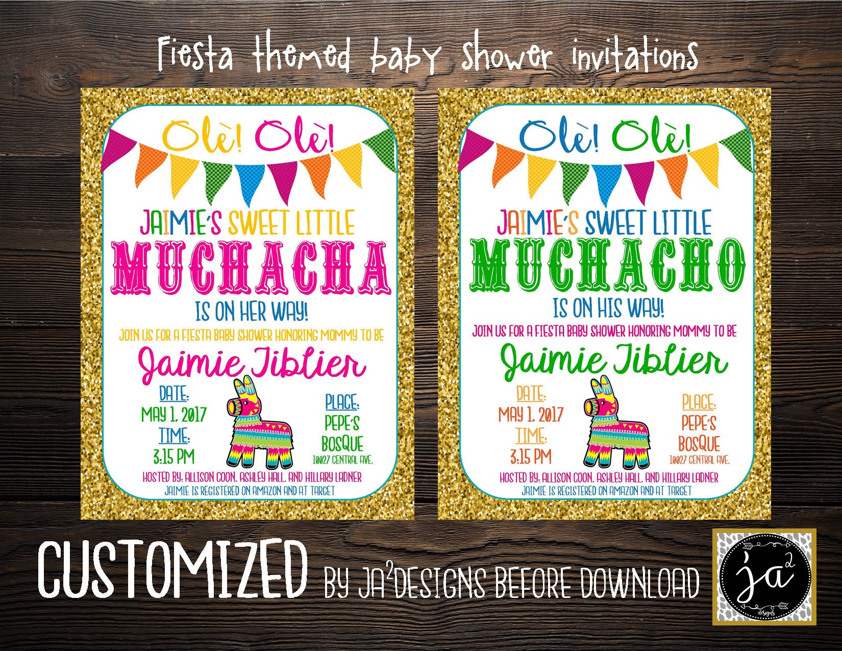 Customizable Fiesta Baby Shower Invitation Boy