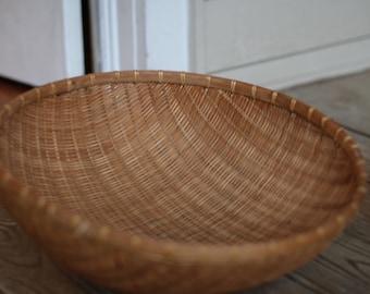 Large Vintage Wicker Basket