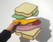 Sandwich 2.0 Stained Glass Piece