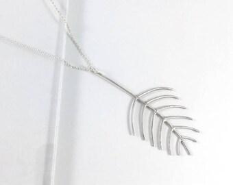 Fern Leaf Pendant Necklace // Sterling Silver