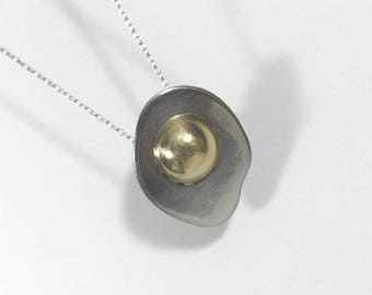 Petite Fried Egg Necklace