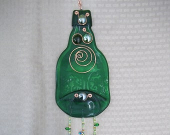 Green Bottle Wind Chime