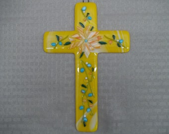 Fused Glass Cross