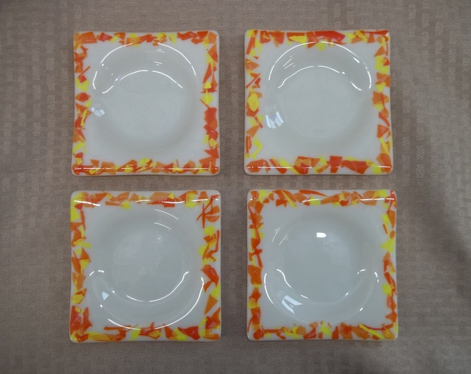 Fused Glass Coaster Set