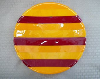 Striped Shallow Bowl