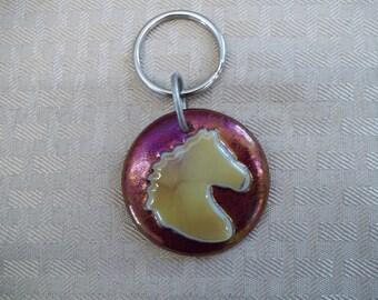 Round Horse Key Chain