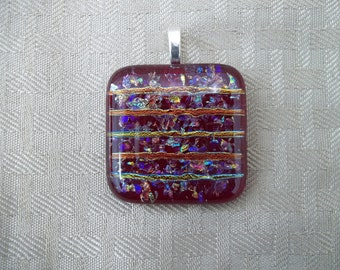 Red Dichroic Necklace