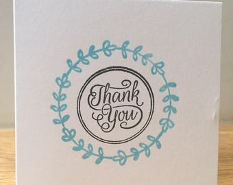 Thank you note cards with envelopes - 1 pack / 5 pack / 10 pack,