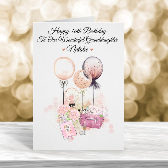 Daughter Birthday Cards, 16th Cards 18th Cards Personalized Cards 21st Birthday Card Engagement Cards Wedding Cards