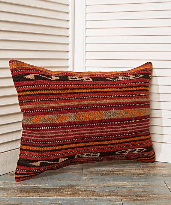 Tremendous Striped Pillow Long Pillow Lumbar Pillow Striped Cushion Red Pillow Red Cushion Brown Pillow Couch Pillow Home Decor Handwoven Rug Short Links Chair Design For Home Short Linksinfo